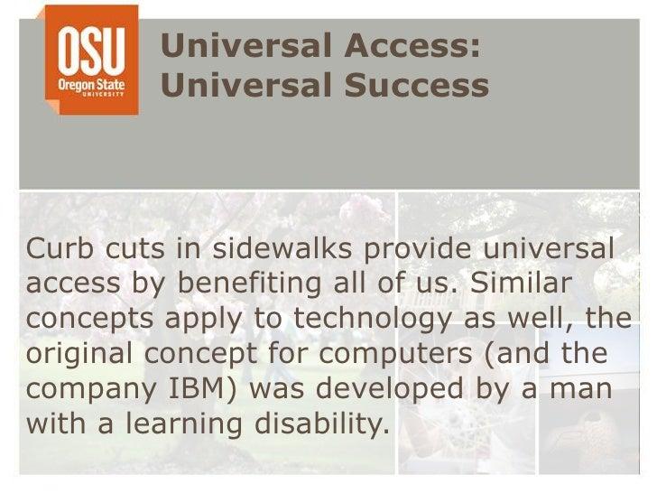 Uday universal access: universal success  Slide 2