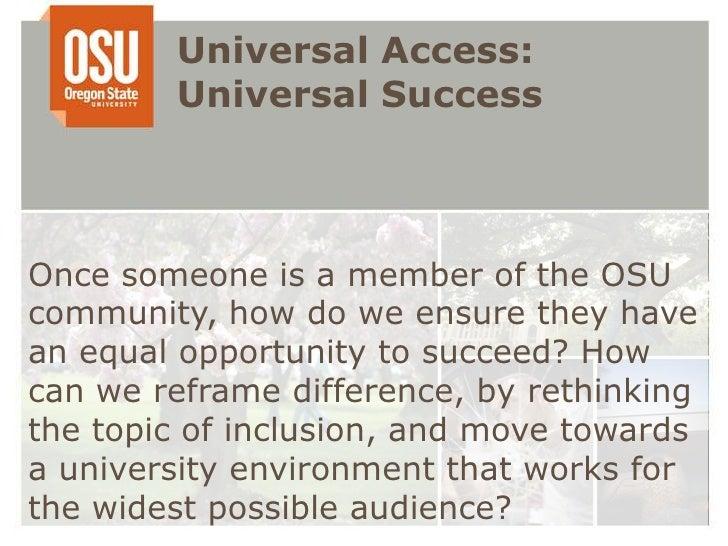 Uday universal access: universal success  Slide 3
