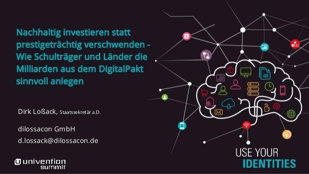 Nachhaltig investieren statt prestigeträchtig verschwenden - Wie Schulträger und Länder die Milliarden aus dem DigitalPakt...