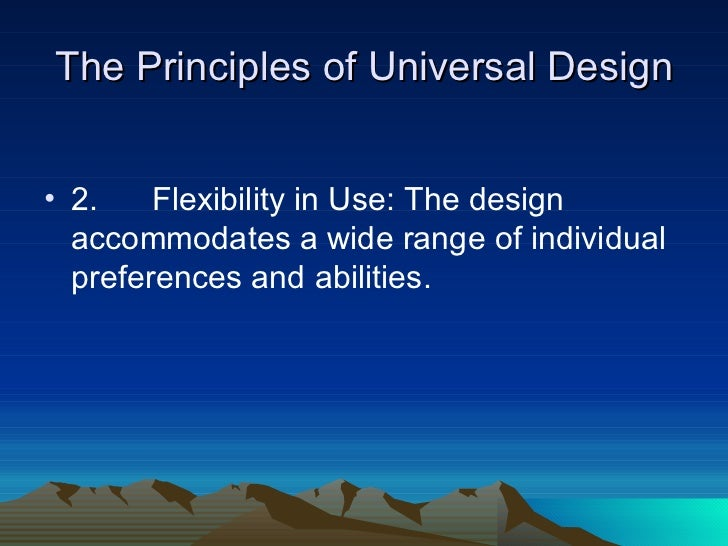 How the principles of the universal