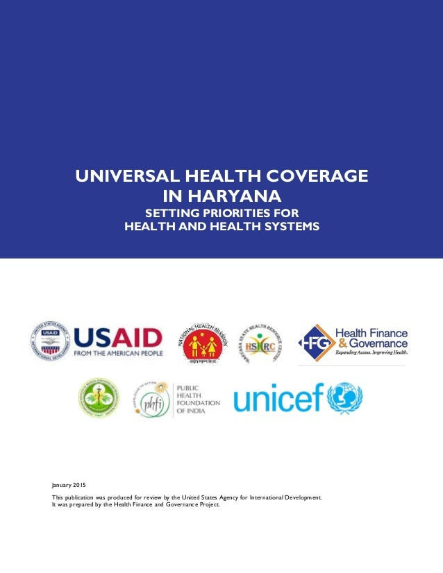 review the universal health coverage statement There is a growing international commitment to universal health coverage  open peer review reports  towards universal coverage: the health systems.
