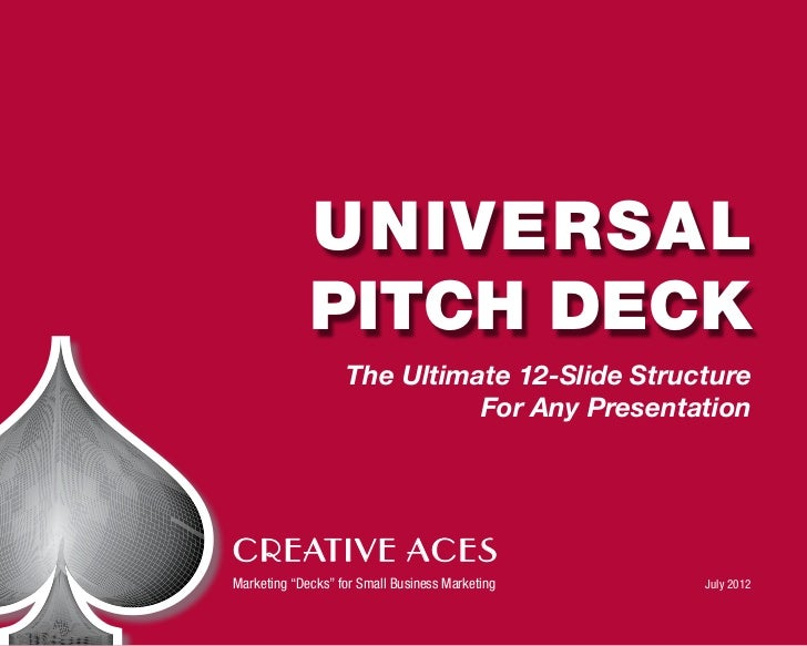 Universal             Pitch Deck                   The Ultimate 12-Slide Structure                             For Any Pre...