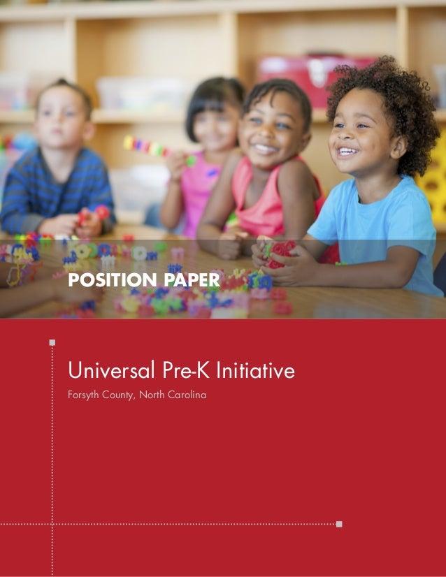 Universal Pre K Initiative