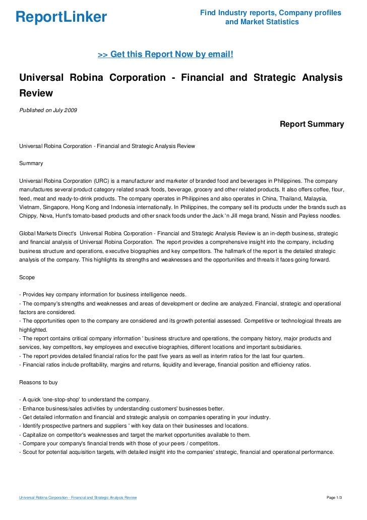 universal robina corporation analysis Universal-robina-corporation _user-generated about wikiwealthcom wikiwealthcom is a collaborative research and analysis website that combines the sum of the world's knowledge to produce the highest quality research reports for over 6,000 stocks, etfs, mutual funds, currencies, and commodities.