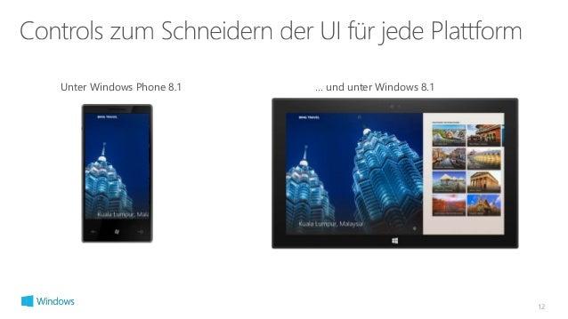 12  Unter Windows Phone 8.1 … und unter Windows 8.1