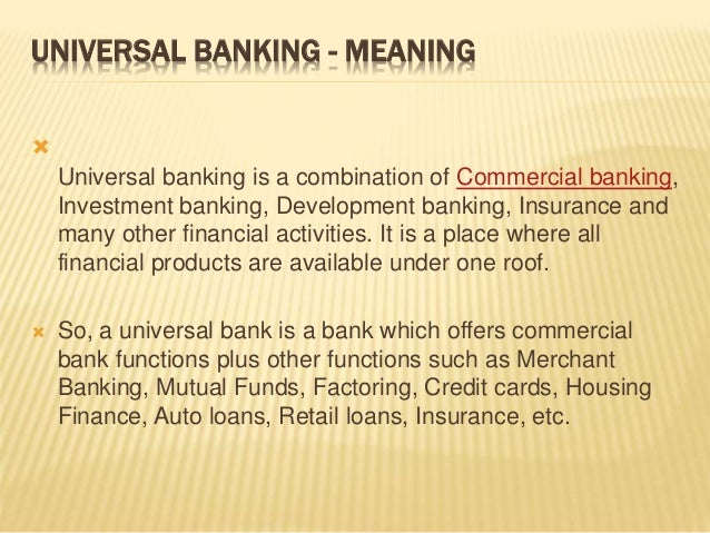 universal banking Proect topic: universal banking in nigeria includes abstract and  chapter one, complete project material available.