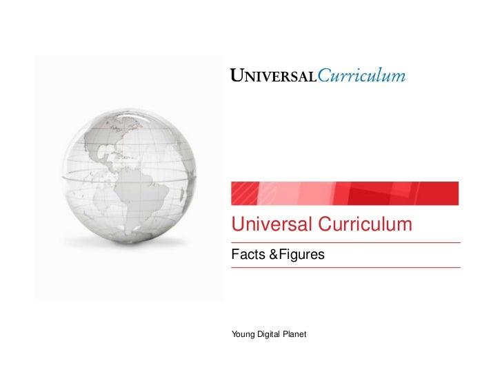 Universal CurriculumFacts &FiguresYoung Digital Planet