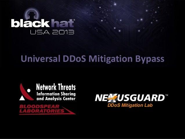 Universal DDoS Mitigation Bypass DDoS Mitigation Lab