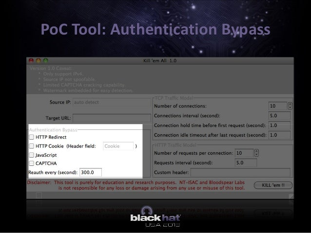 PoC Tool: Authentication Bypass
