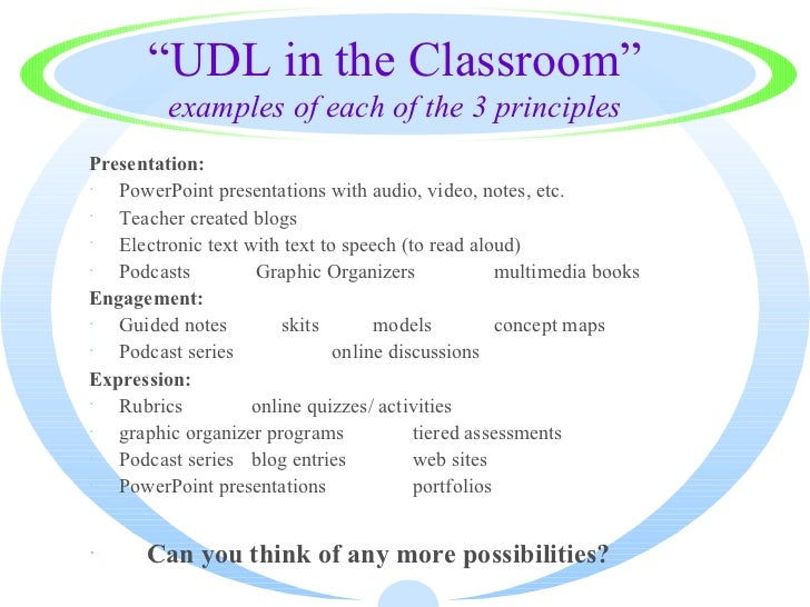 Udl Classroom Design ~ Universal design for learning lesson plan template gallery
