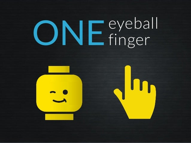 ONEeyeball finger