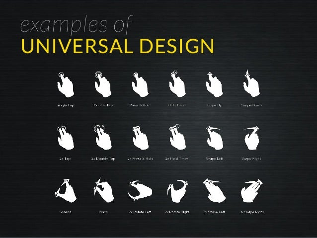 examples of UNIVERSAL DESIGN
