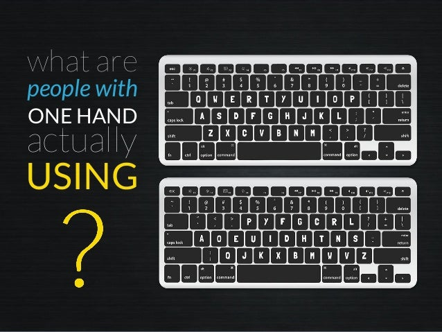 what are people with ONE HAND actually USING