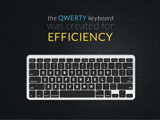 the QWERTY keyboard was created for EFFICIENCY