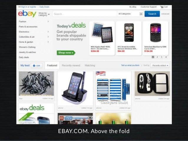EBAY.COM. Above the fold