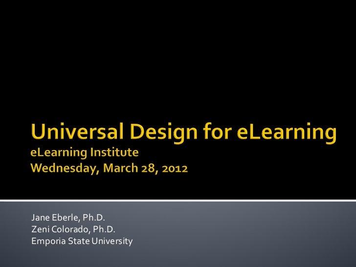 Jane Eberle, Ph.D.Zeni Colorado, Ph.D.Emporia State University