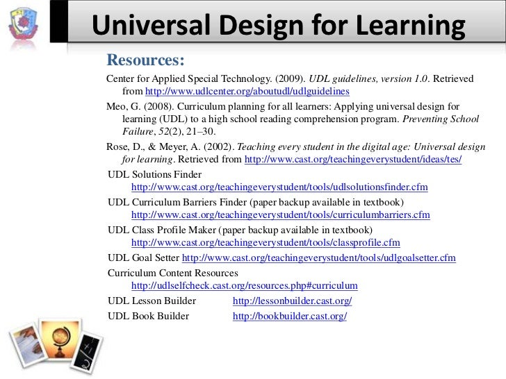 Universal Design Classroom Examples ~ Universal design for learning
