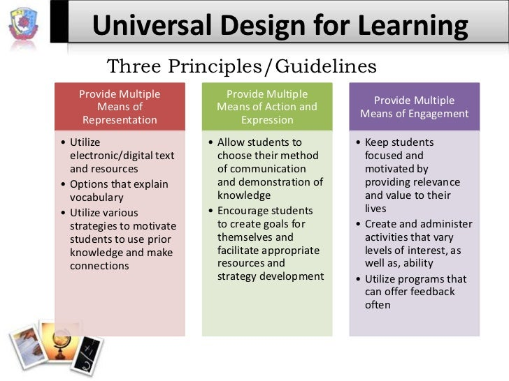 universal design for learning  Universal design for learning