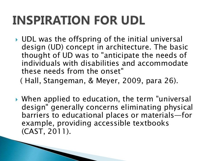 Universal Design Classroom Examples ~ Universal design for learning udl