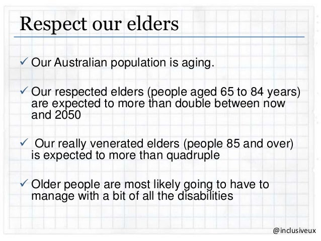 why do we respect our elders