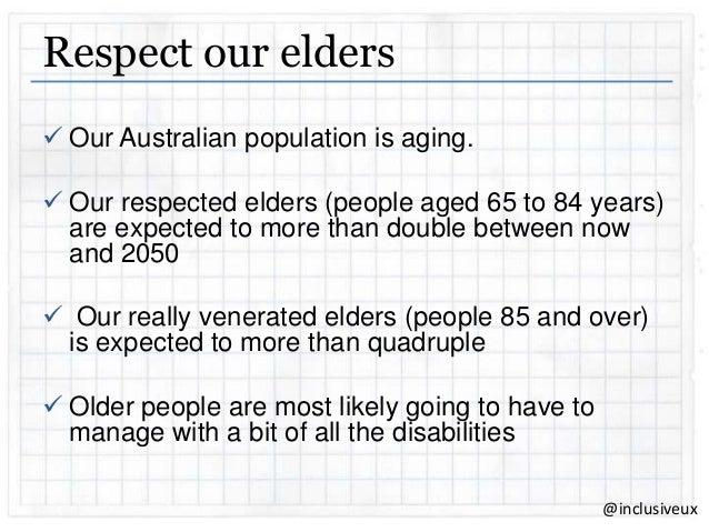 we should respect our elders speech