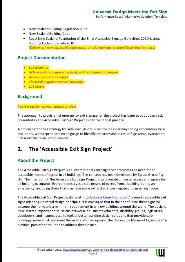 Universal Design Meets The Exit Sign White Paper Performance Assessme