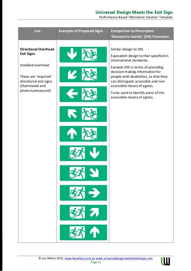 Universal Design Meets the Exit Sign White Paper Performance Assessme…