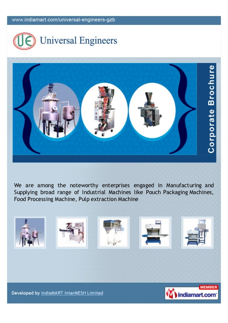 We are among the noteworthy enterprises engaged in Manufacturing andSupplying broad range of Industrial Machines like Pouc...