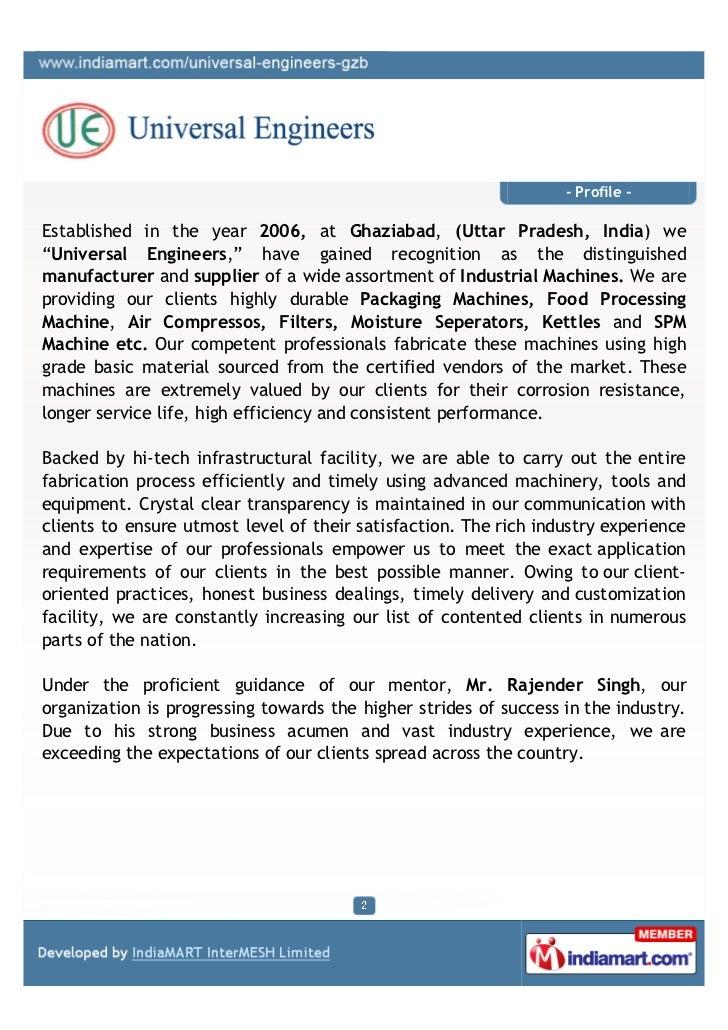 Universal Engineers, Ghaziabad, Industrial Machines Slide 2