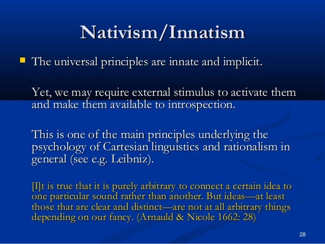 Behaviorist vs nativist essays