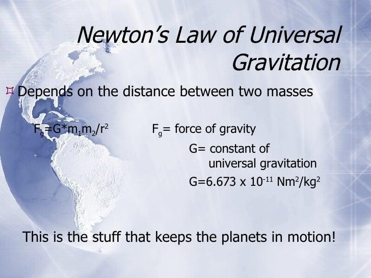 Universal  Gravitation Slide 3
