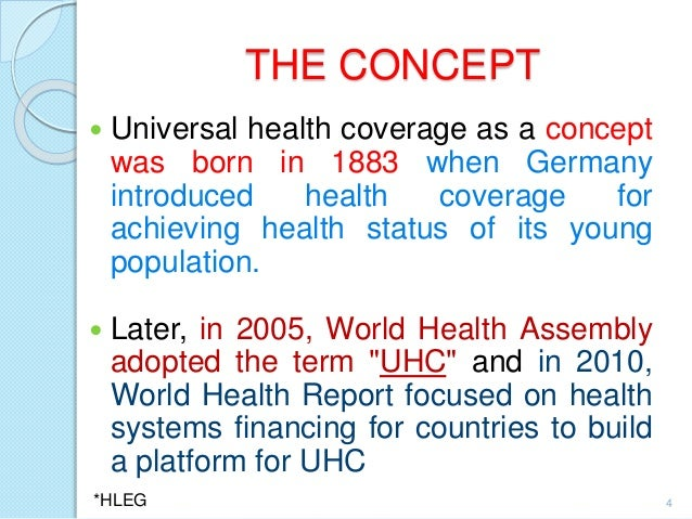 Review the universal health coverage statement