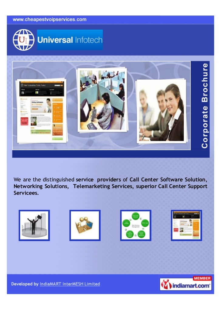 We are the distinguished service providers of Call Center Software Solution,Networking Solutions, Telemarketing Services, ...