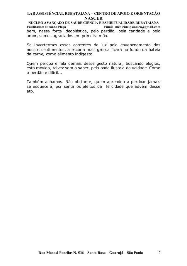 Universalismo crístico   apostila - 022 - 2011 - lar (1) Slide 2