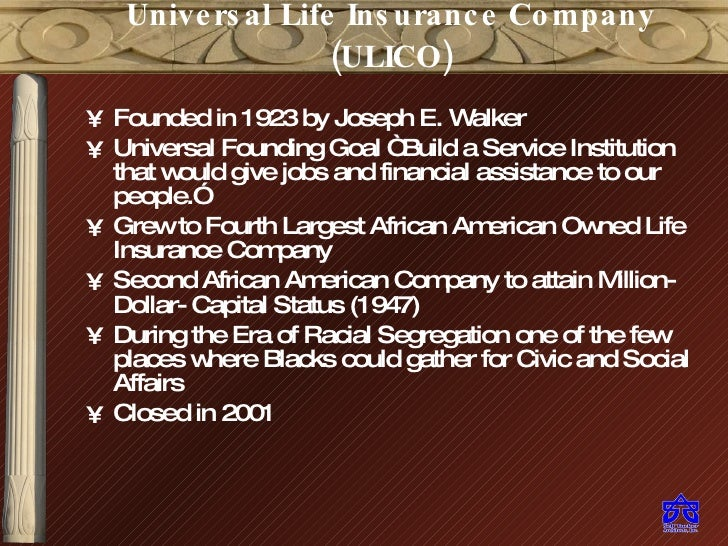 Universal Life Insurance Bldg