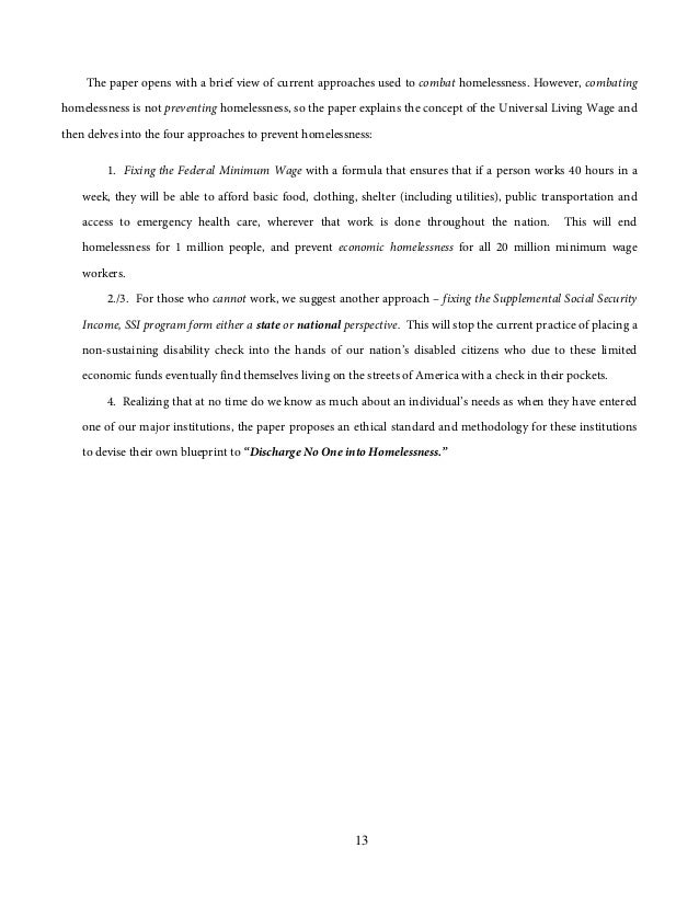 prevention of homelessness essay Preventing homelessness sara lewis although it is not possible to solve the homeless issues overnight, prevention strategies are a cause of homelessness essay.