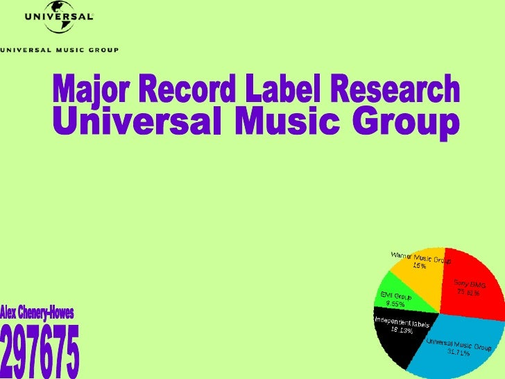 Major Record Label Research Universal Music Group