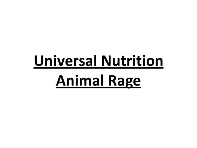 Universal Nutrition Animal Rage