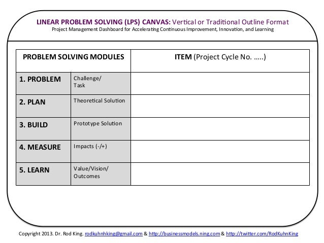 The Universal Problem Solving Ups Canvas A Project