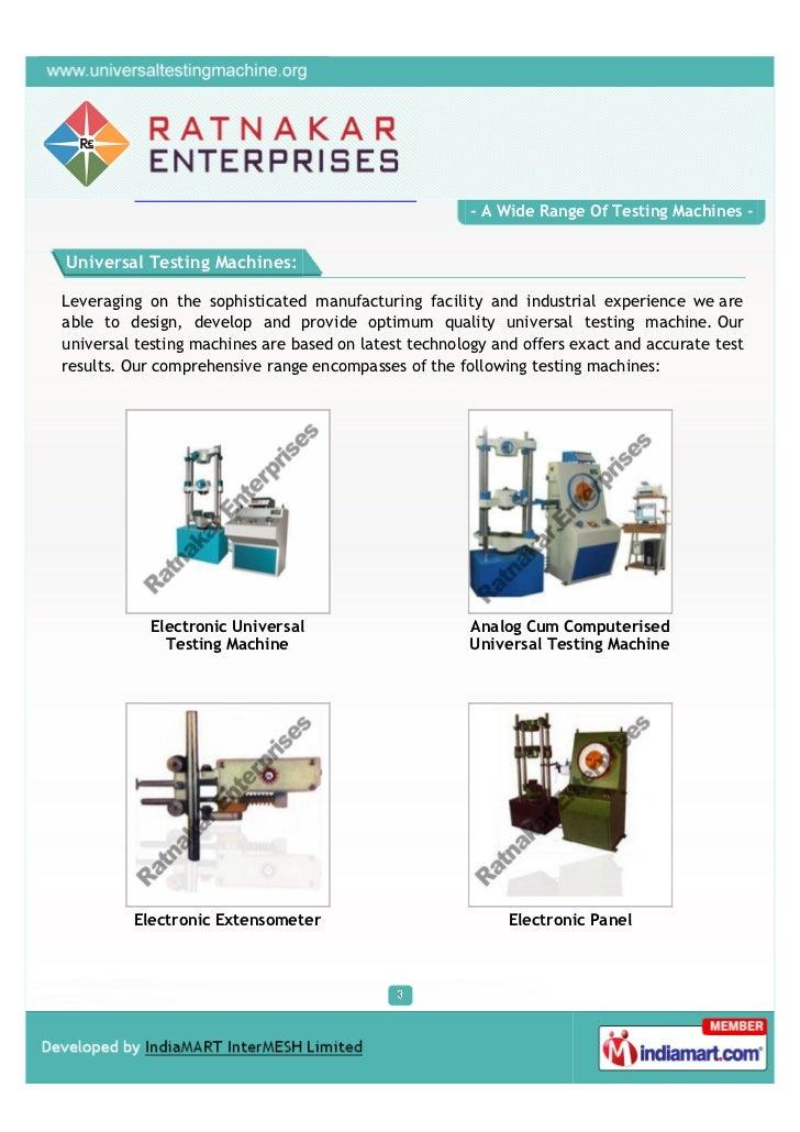 Ratnakar Enterprises, Ichalakaranji, Testing Machines Slide 3