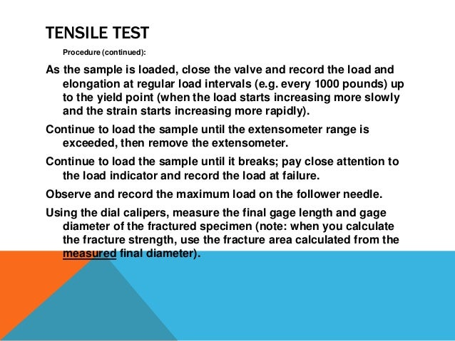 Lab report about tensile testing