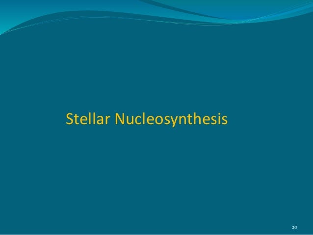 stellar nucleosynthesis process Nu le  yn he is (no͞o′klē-ō-sĭn′thĭ-sĭs, nyo͞o′-) n the process by which heavier chemical elements are synthesized from lighter atomic nuclei in the .