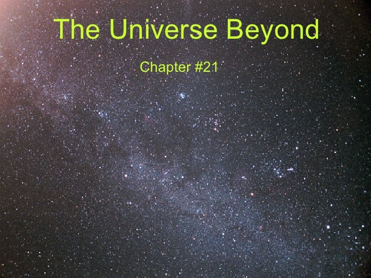 The Universe Beyond Chapter #21