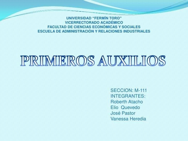 """UNIVERSIDAD """"FERMÍN TORO""""VICERRECTORADO ACADÉMICOFACULTAD DE CIENCIAS ECONÓMICAS Y SOCIALESESCUELA DE ADMINISTRACIÓN Y REL..."""