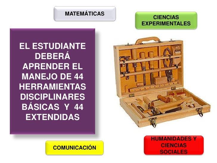 MATEMÁTICAS<br />CIENCIAS<br />EXPERIMENTALES<br />EL ESTUDIANTE DEBERÁ APRENDER EL MANEJO DE 44  HERRAMIENTAS  DISCIPLINA...