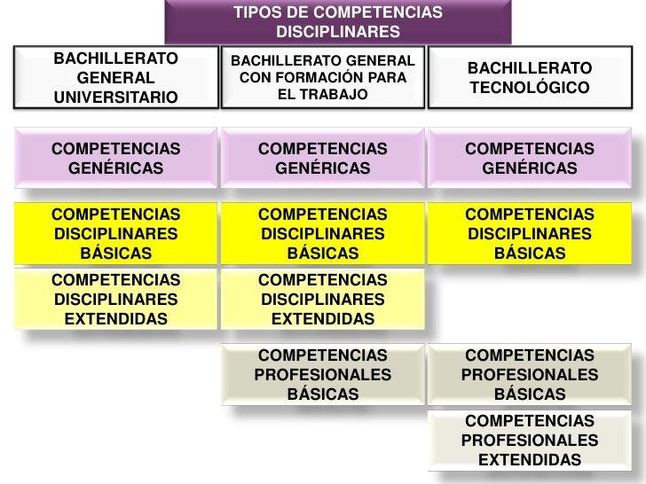 TIPOS DE COMPETENCIAS DISCIPLINARES<br />BACHILLERATO GENERAL<br />UNIVERSITARIO<br />BACHILLERATO GENERAL CON FORMACIÓN P...