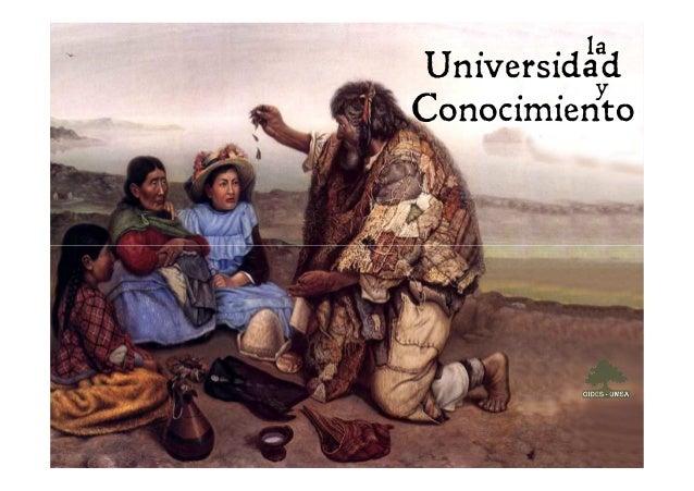 Universidad Conocimiento la y