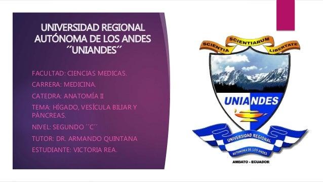 UNIVERSIDAD REGIONAL AUTÓNOMA DE LOS ANDES ´´UNIANDES´´ FACULTAD: CIENCIAS MEDICAS. CARRERA: MEDICINA. CATEDRA: ANATOMÍA I...