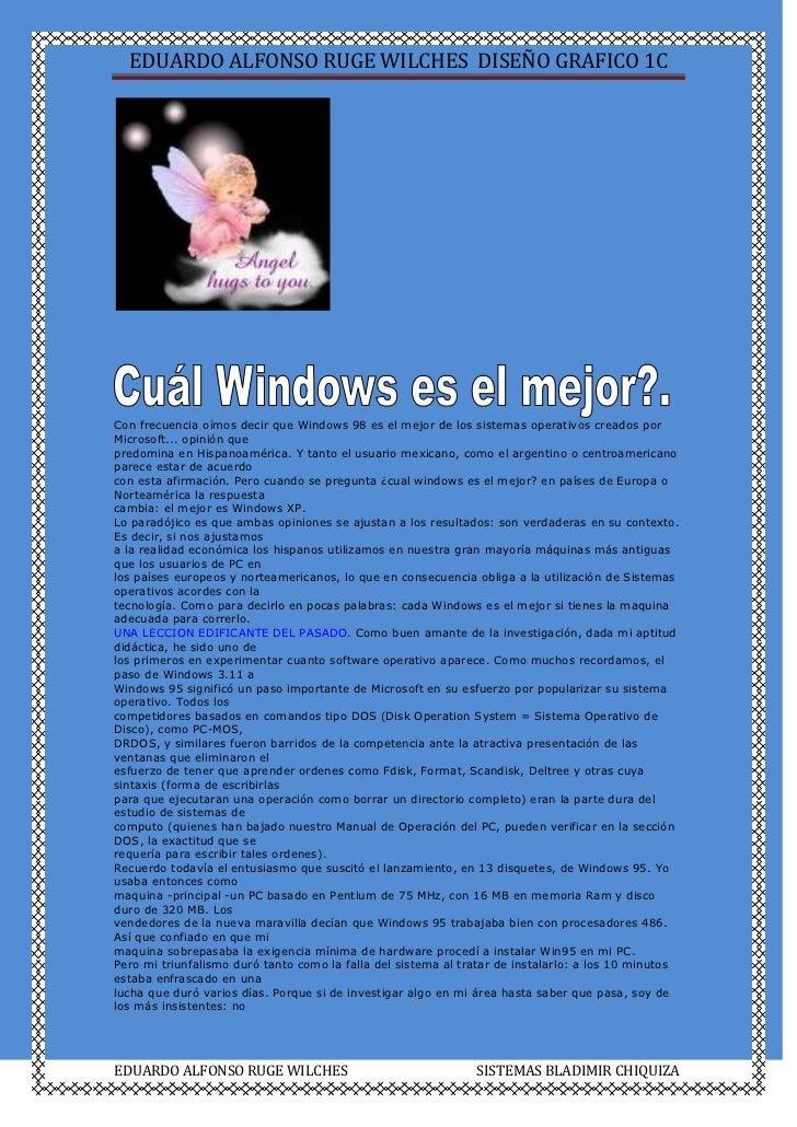 Con frecuencia oímos decir que Windows 98 es el mejor de los sistemas operativos creados por Microsoft... opinión que<br /...