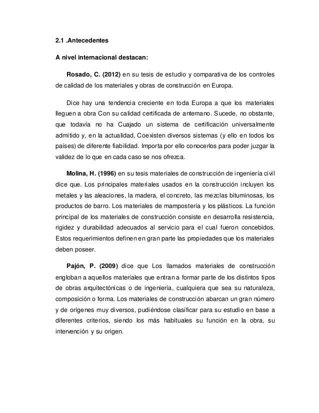 2.1 .Antecedentes A nivel internacional destacan: Rosado, C. (2012) en su tesis de estudio y comparativa de los controles ...